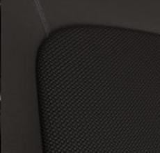 Pruuni värvi tekstiilist, nahaga kombineeritud istmekatted